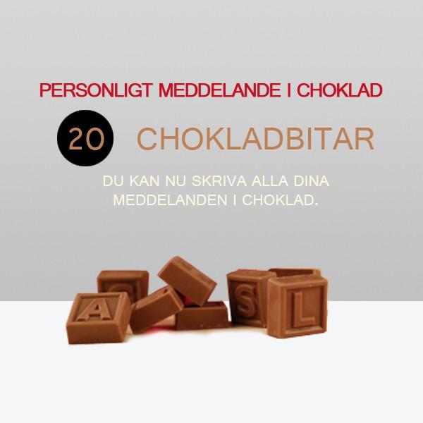 Personligt meddelande i choklad