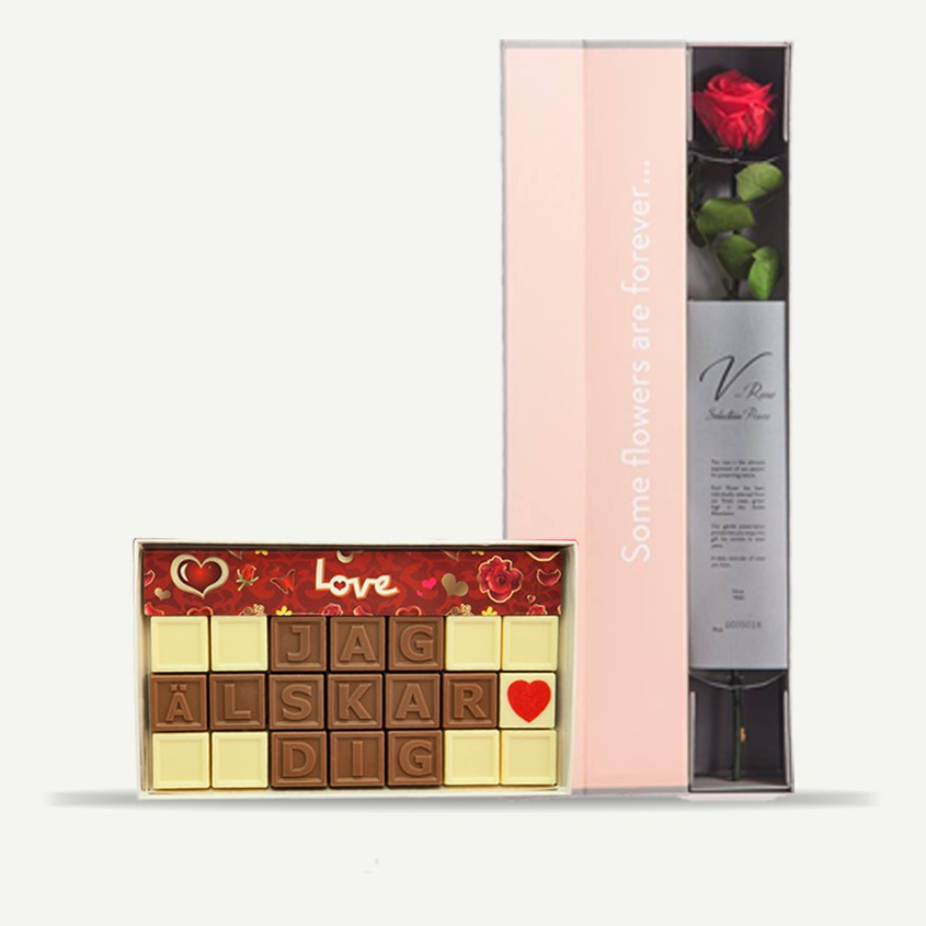 Choklad med ros