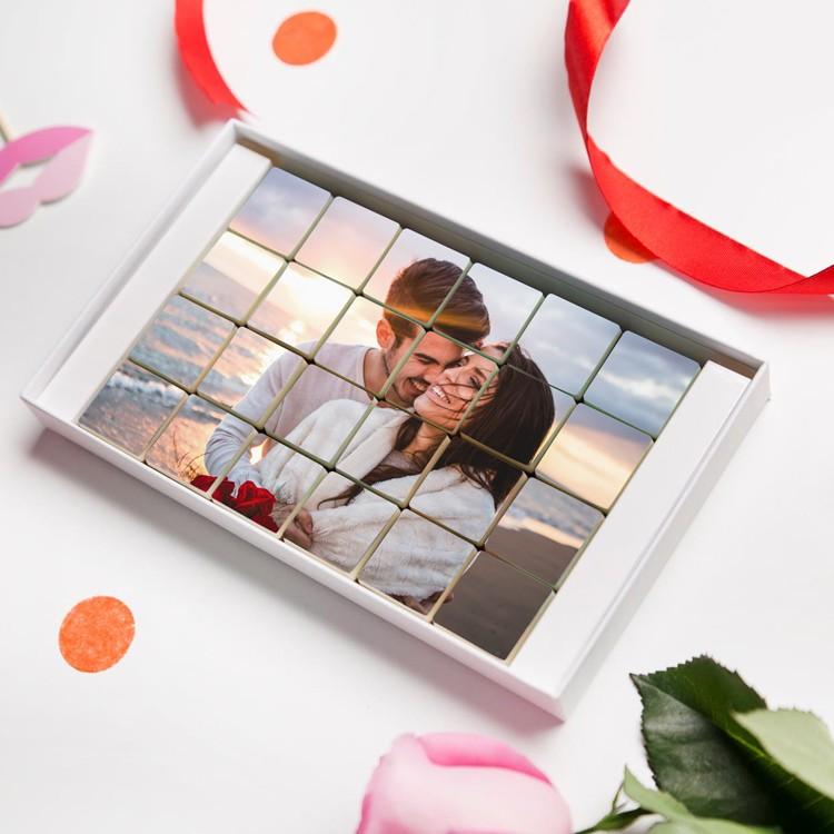 chokladask med eget foto