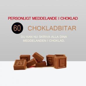 Personligt meddelande i choklad - 60 Chokladbitar