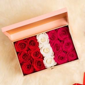 Lyxig rosbox (Röd | Vit | Rosa) - Evighetsrosor