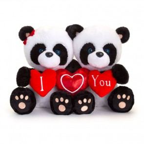 Panda-nallar med texten 'I love you'
