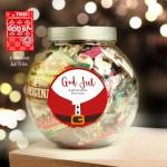 God jul och gott och nytt år- Personlig burk med godis