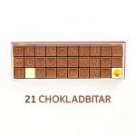 Personligt meddelande i choklad - 21 Chokladbitar