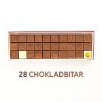 Personligt meddelande i choklad - 28 Chokladbitar